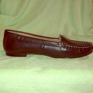 Lands end black loafer style shoes